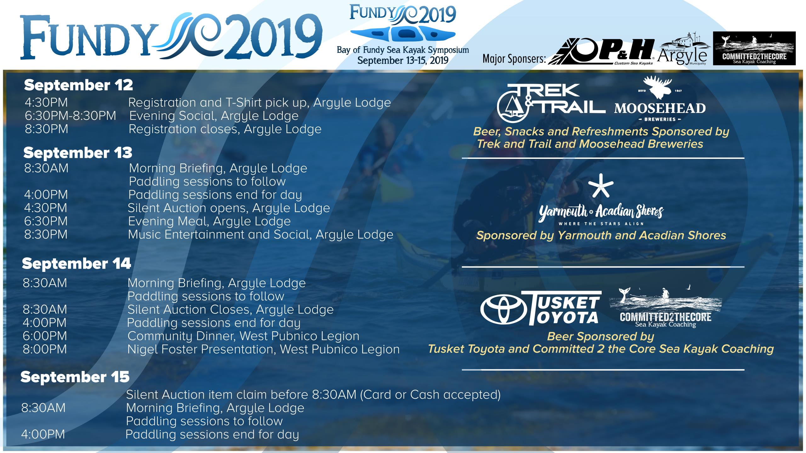 Bay of Fundy Sea Kayak Symposium – Session Assignment